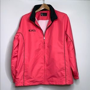 KIKO • Pink Grey Hooded Windbreaker Jacket